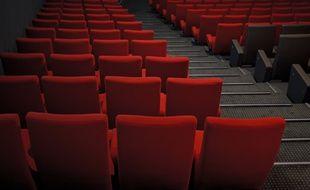Illustration une salle de cinéma.