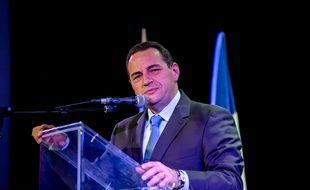 Le candidat à la primaire à droite Jean-Frédéric Poisson, à Ecully le 20 octobre 2016.
