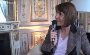 Christine Albanel le 6 mars 2009, dans son bureau au ministère de la Culture