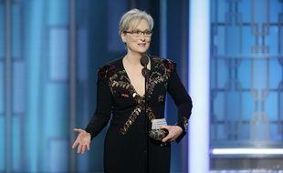 Meryl Streep lors de la cérémonie des Golden Globes, le 8 janvier 2017.