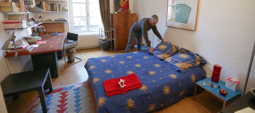Strasbourg, un propriétaire qui loue une chambre.