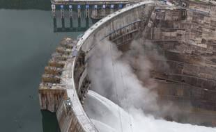 La centrale de Baihetan en Chine a été mise en service, lundi 28 juin 2021.