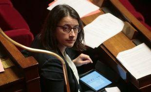 Cécile Duflot le 8 février 2016 à l'Assemblée nationale à Paris