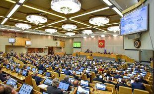 Le siège du Parlement russe, le 11 avril 2018 à Moscou.