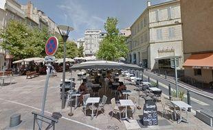 La place de Lenche, dans le très touristique quartier du Panier, à Marseille.