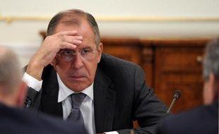 Le chef de la diplomatie russe, Sergueï Lavrov, le 9 septembre 2013 dans la résidence de Novo-Ogaryovo, près de Moscou