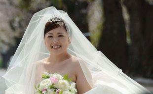 Natsumi Yokota, lors de son mariage, le 16 avril 2014.