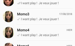 Le Momo communiquerait avec ses victimes via Whatsapp