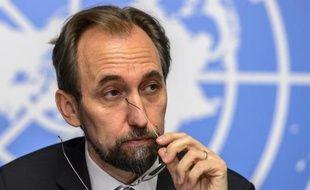 Zeid Ra'ad Al Hussein, Haut-Commissaire aux droits de l'Homme, le 16 octobre 2014 à Genève