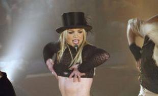 Britney Spears en concert au Lincoln Center à New York, le 2 décembre 2008.