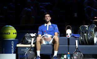 Novak Djokovic en mode sérénité totale.