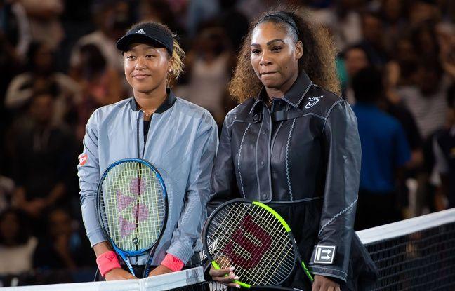 Naomi Osaka et Serena Williams avant la finale de l'US Open, le 8 septembre 2018.