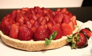 Une tarte aux fraises.