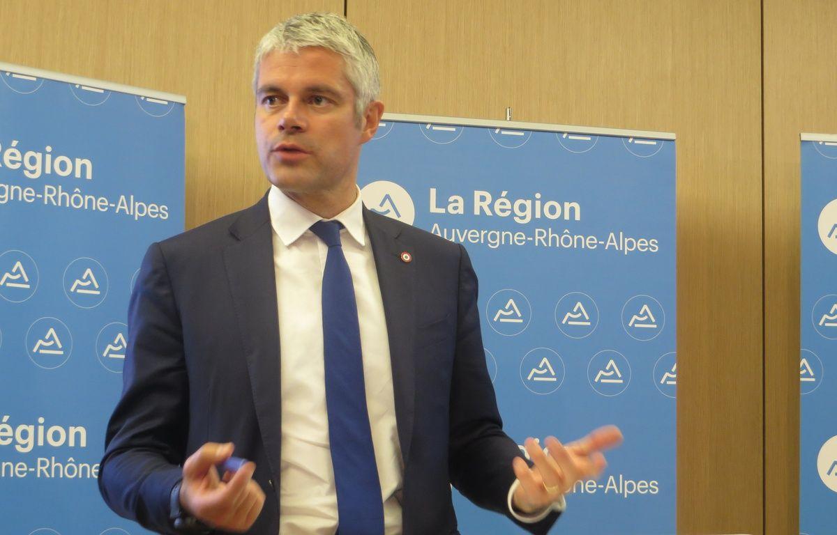 Laurent Wauquiez, lors d'une conférence de presse à la région, le 14 novembre 2016. – C. Girardon / 20 Minutes
