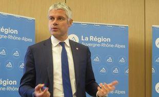 Laurent Wauquiez, lors d'une conférence de presse à la région, le 14 novembre 2016.
