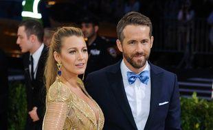 L'actrice Blake Lively et son mari, l'acteur Ryan Reynolds, au Met Ball 2017