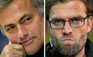 """José Mourinho et Jürgen Klopp, entraîneurs du Real Madrid et du Borussia Dortmund, amoureux du """"show"""", se retrouvent mercredi en demi-finale de Ligue des champions et vont assurément marquer ce duel entre deux équipes influencées par leurs approches radicalement différentes du jeu."""