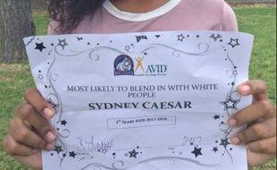 Une élève a reçu le diplôme de «la plus susceptible de se mélanger avec les blancs»