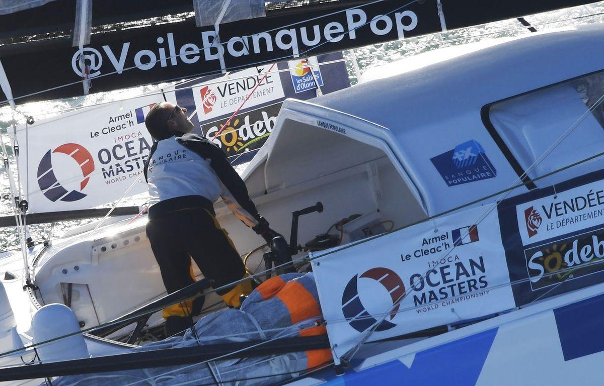 Armel le Cléac'h sur le Vendée Globe 2016 – DAMIEN MEYER / AFP