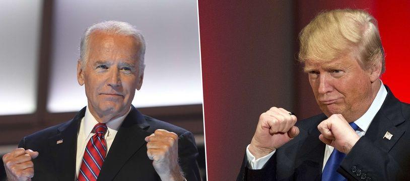 Joe Biden (76 ans) face à Donald Trump (73 ans).