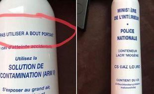 Les photos virales du conteneur lacrymogène attribué à la police.