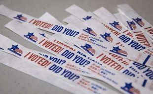 Des banderoles pour inciter les habitants de Chicago à voter.