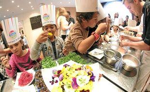 Fleurs et cuisine molléculaire étaient au programme au Gray d'Albion.