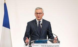 Le ministre de l'Economie Bruno Le Maire, le 8 octobre 2020 à Paris.