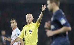 Antony Gautier, l'arbitre de la rencontre de Coupe de la Ligue entre le PSG et Marseille le 31 octobre 2012.