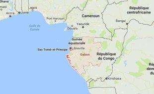 Plan de situation du Gabon.