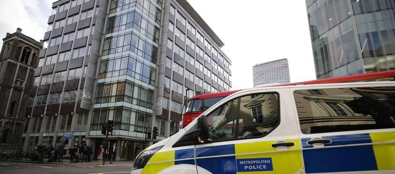 Un camion de police à Londres (illustration).