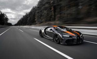 La Bugatti qui a dépassé les 490 km/h.