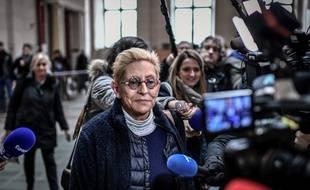 Paris, le 11 décembre 2019. Isabelle Balkany arrive à la cour d'appel de Paris où elle est jugée pour «fraude fiscale» avec son mari, Patrick.