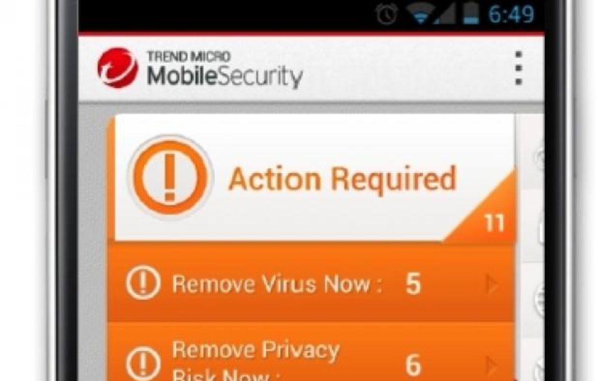 Comme sur un PC, l'antivirus scanne automatiquement le contenu du smartphone pour y débusquer les éventuelles menaces. – TREND MICRO