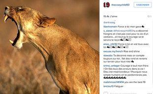Capture d'écran du compte Instagram de Serge Aurier.