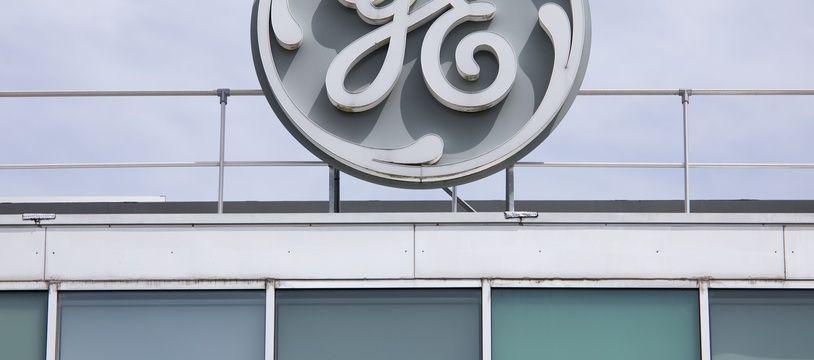 Le logo de GE à Belfort. (archives)