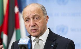 Laurent Fabius, ministre des Affaires étrangères, au siège des Nations unies à New York, en mars 2015.