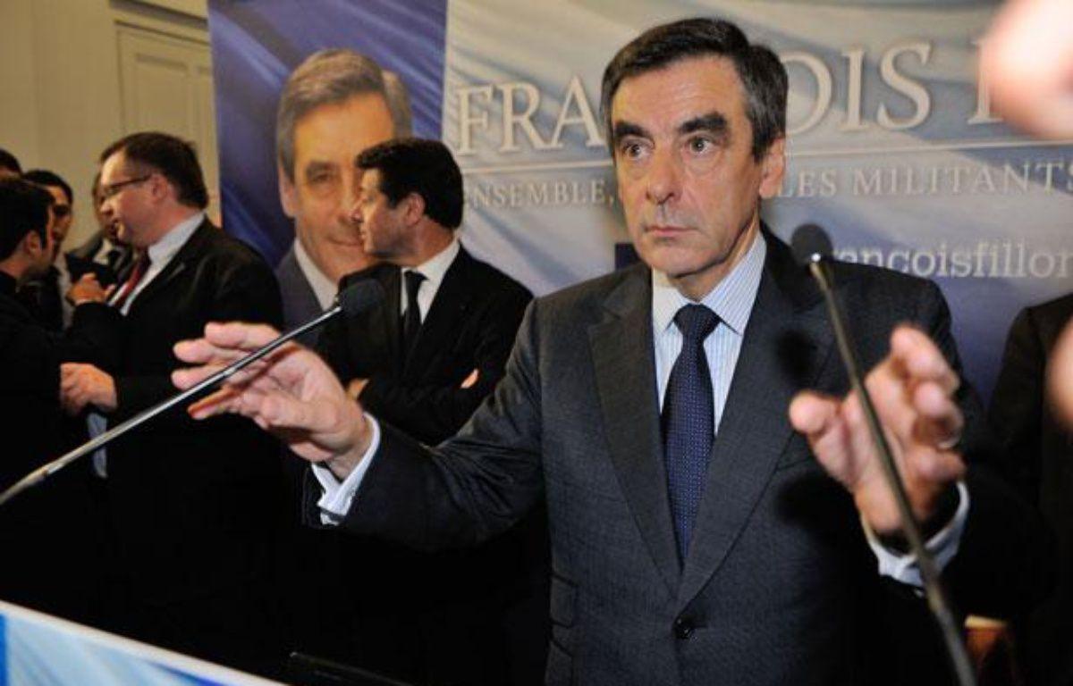 François Fillon, lors d'une conférence de presse le 27novembre 2012 à Paris. – WITT/SIPA