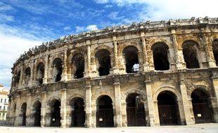 Les arènes de Nîmes (photo prise le 3 janvier 2012)