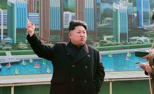 Kim Jong-Un sur une photo de l'agence Korean Central News Agency (KCNA), prise le 15 février 2015 à Pyongyang.