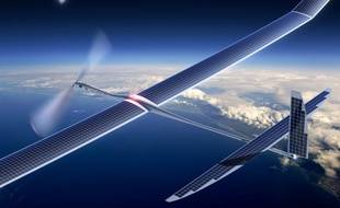 Un drone solaire de Titan Aerospace, une société dont Google a annoncé le rachat mi-avril 2014.