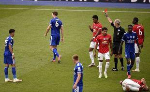 Un joueur de Leicester expulsé lors de la dernière journée de la saison 2019-2020 en Premier League.