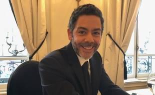 Manu Payet à la présentation des nommés des César- 2018 au Fouquet's