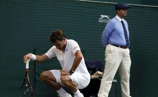 Le Suisse, Stan Wawrinka, sorti dès le premier tour à Wimbledon, le 3 juillet 2017.