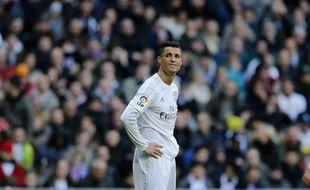 Ronaldo en détresse lors de la défaite du Real Madrid à domicile contre l'Atlético (0-1), le 27 février 2016.