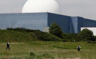 La centrale nucléaire B de Sizewell, dans le Suffolk, en Angleterre, exploitée par British Energy.