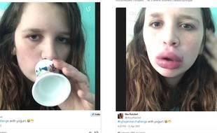Capture d'écran Instagram. #KylieJennerChallenge.