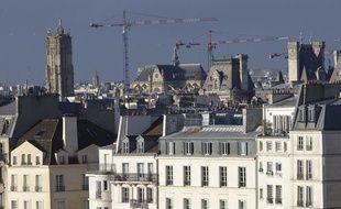 Illustration des toits de Paris, le 27 janvier 2013.