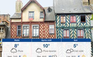 Météo Rennes: Prévisions du vendredi 6 décembre 2019