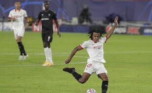 Le défenseur du FC Séville Jules Koundé a livré un match énorme face au Stade Rennais.